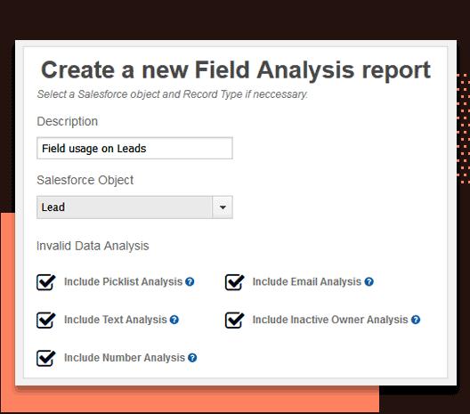 Analyze Salesforce fields