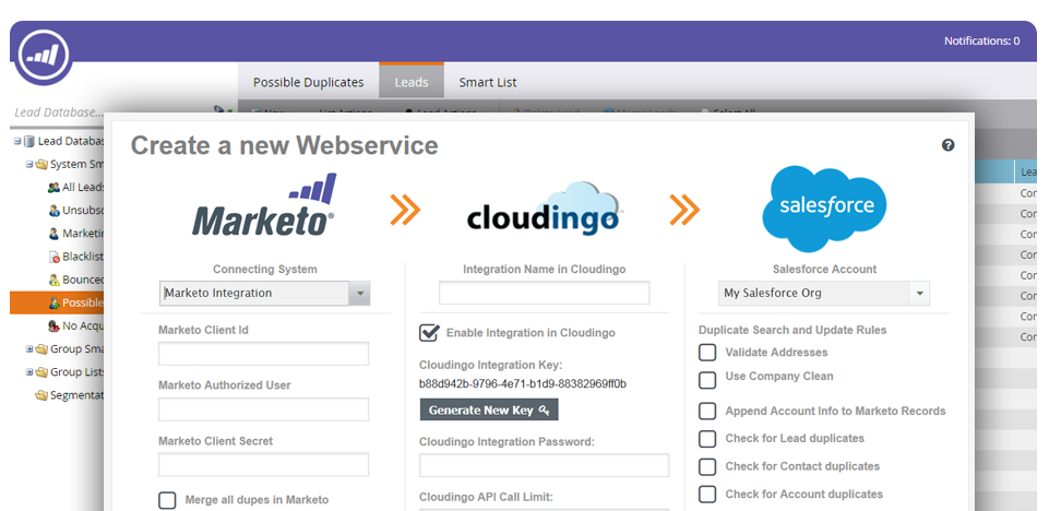 integrate marketo and salesforce