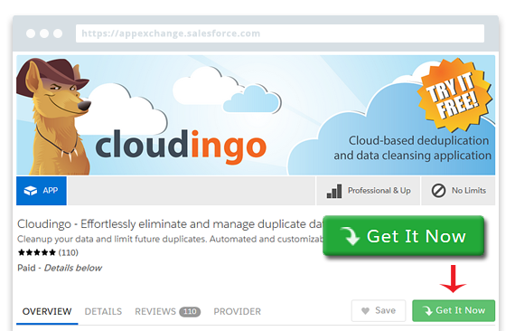 Installing Cloudingo via the AppExchange