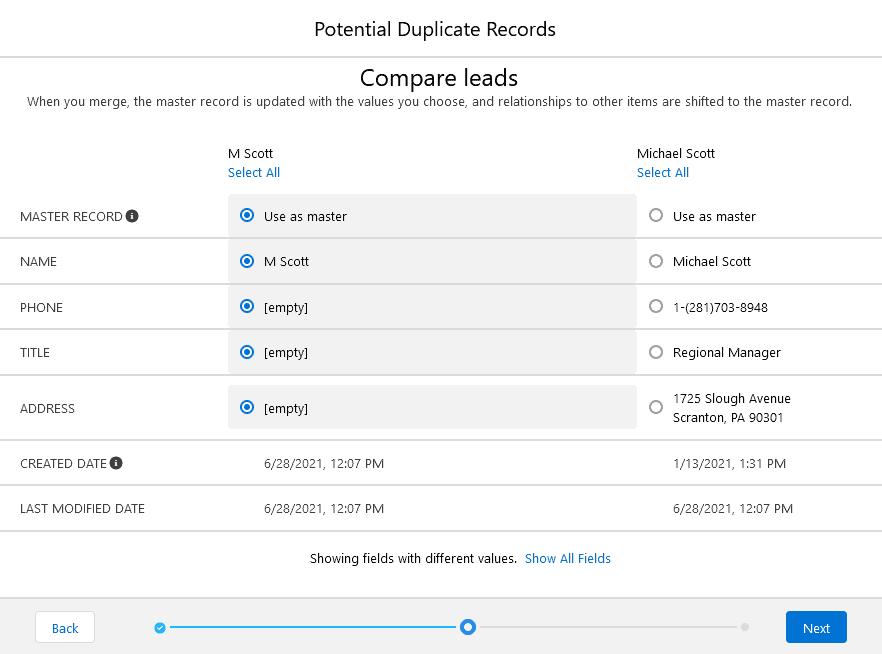 merging duplicates in salesforce