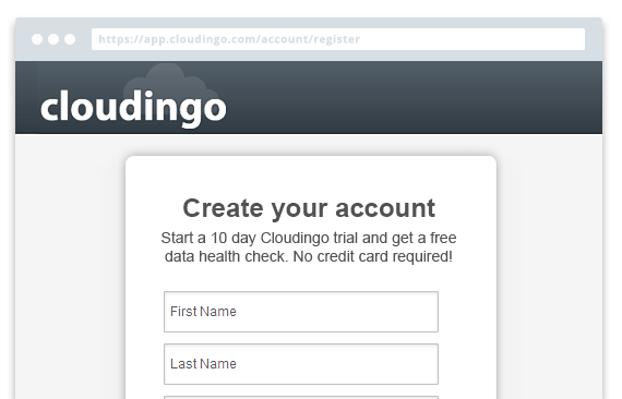 Create for Cloudingo account to get started